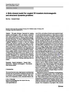 A finite element model for coupled 3D transient electromagnetic and
