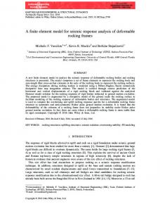 A finite element model for seismic response ... - Wiley Online Library