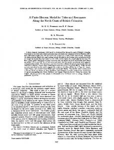 A finite element model for tides and resonance along the north coast of ...