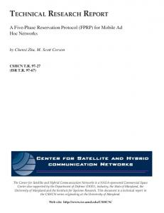 A Five-Phase Reservation Protocol (FPRP) for Mobile Ad Hoc Networks