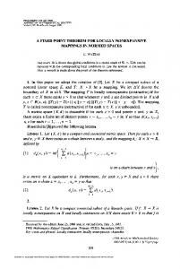 A FIXED POINT THEOREM FOR LOCALLY NONEXPANSIVE