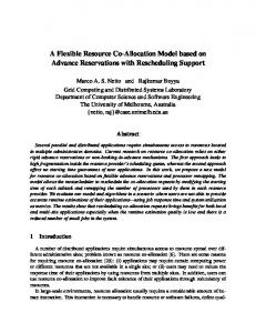 A Flexible Resource Co-Allocation Model based on Advance