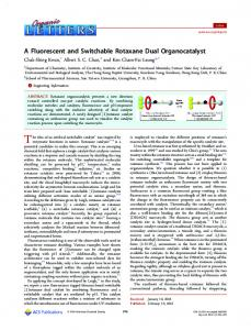 A Fluorescent and Switchable Rotaxane Dual ... - ACS Publications