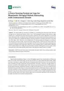 A Force-Sensing System on Legs for Biomimetic ... - Semantic Scholar