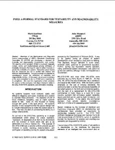 A formal standard for testability and diagnosability ... - Semantic Scholar