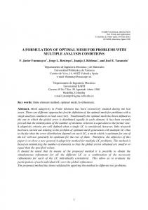 a formulation of optimal mesh for problems with