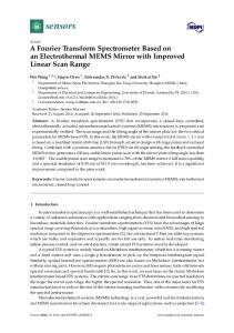 A Fourier Transform Spectrometer Based on an Electrothermal ... - MDPI