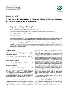 A Fourth-Order Conservative Compact Finite Difference Scheme for ...