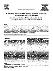 A framework and test-suite for assessing approaches to ... - CiteSeerX