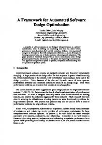 A Framework for Automated Software Design