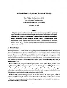 A Framework for Dynamic Byzantine Storage - CiteSeerX