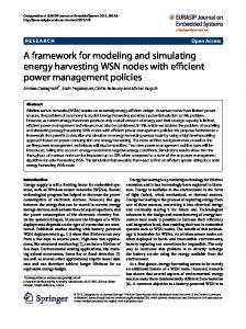 A framework for modeling and simulating energy