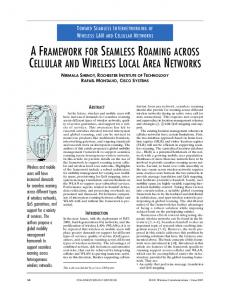 a framework for seamless roaming across cellular and wireless local ...