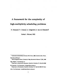 A framework for the complexity of high-multiplicity ... - Semantic Scholar