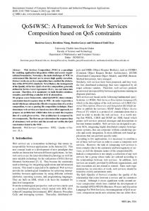 A Framework for Web Services Composition based on QoS constraints