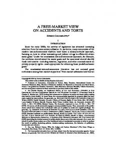 A Free-Market View on Accidents and Torts - Duke Law Scholarship ...