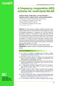 A frequency cooperative ARQ scheme for multi-band WLAN - SPC