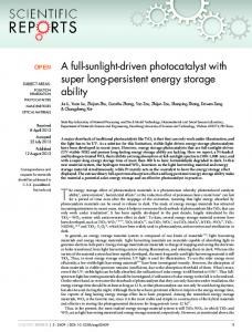 A full-sunlight-driven photocatalyst with super long-persistent energy ...