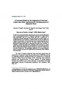 A Functional Model for the Integration of Gains and Losses under Risk ...