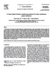 A fuzzy-based decision-making procedure for data ... - Semantic Scholar
