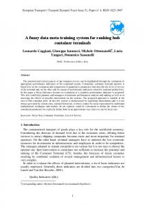 A fuzzy expert system for ranking hub container terminals - istiee