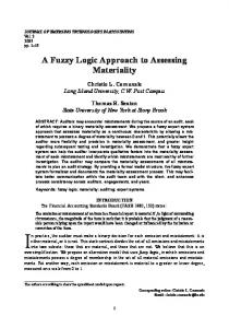 A Fuzzy Logic Approach to Assessing Materiality