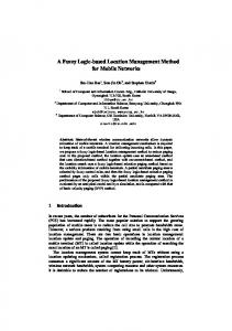 A Fuzzy Logic-based Location Management Method for Mobile Networks