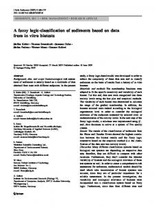 A fuzzy logic-classification of sediments based on ... - Semantic Scholar