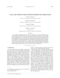 A Fuzzy Logic Method for Improved Moment Estimation from Doppler ...