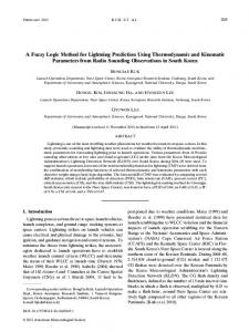A Fuzzy Logic Method for Lightning Prediction Using ... - AMS Journals