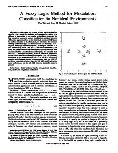 A fuzzy logic method for modulation classification in - Signal and ...