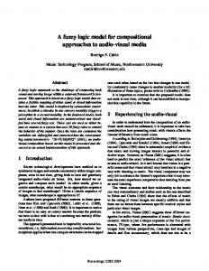 A fuzzy logic model for compositional approaches to ...