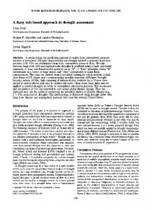 A fuzzy rulebased approach to drought ... - Wiley Online Library