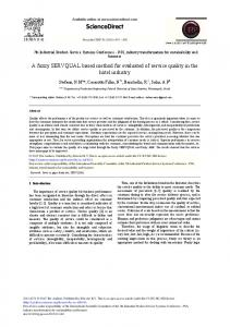 A Fuzzy SERVQUAL Based Method for Evaluated of Service ... - Core