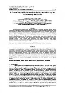 A Fuzzy Topsis Multiple-Attribute Decision Making for ... - arXiv