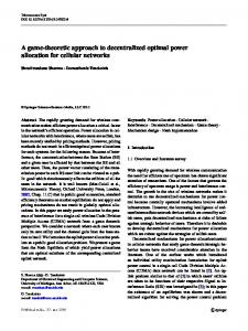 A game-theoretic approach to decentralized optimal power allocation