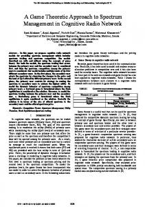 A Game Theoretic Approach to Spectrum Management ... - IEEE Xplore