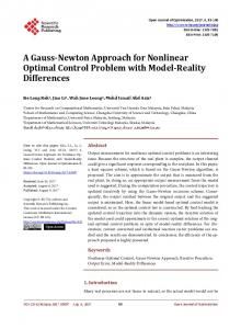 A Gauss-Newton Approach for Nonlinear Optimal Control Problem