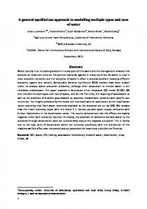 A general equilibrium approach to modelling multiple types and uses ...