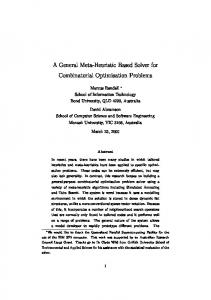 A General Meta-Heuristic Based Solver for Combinatorial Optimisation ...