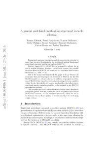 A general multiblock method for structured variable selection
