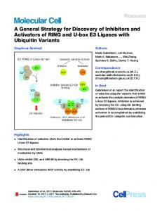 A General Strategy for Discovery of Inhibitors and ... - Cell Press