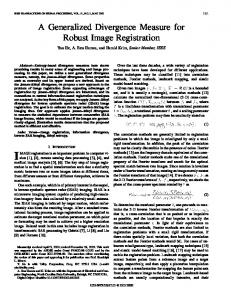 A generalized divergence measure for robust ... - Semantic Scholar