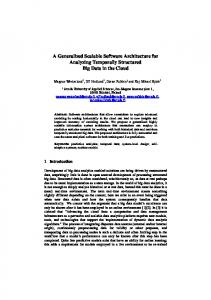 A Generalized Scalable Software Architecture for ...