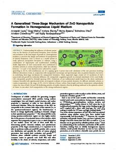 A Generalized Three-Stage Mechanism of ZnO Nanoparticle ...