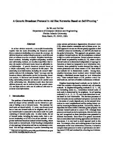 A Generic Broadcast Protocol in Ad Hoc Networks Based ... - CiteSeerX
