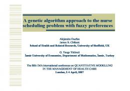 A genetic algorithm approach to the nurse scheduling problem with ...