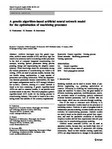 A genetic algorithm-based artificial neural network model for the ...