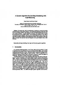 A Genetic Algorithm for Job Shop Scheduling with ... - Semantic Scholar
