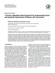 A Genetic-Algorithms-Based Approach for Programming Linear and ...